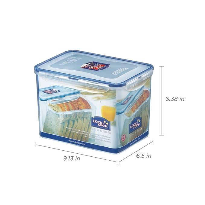Lock & Lock Rectangular Storage Container - Clear/Blue, 3.9 L ...