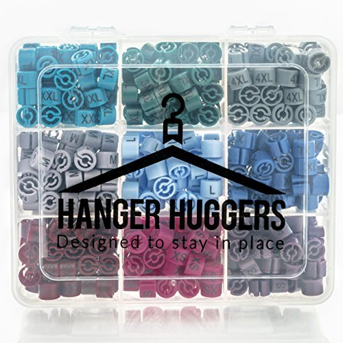 Professional Quality 450 Piece Hanger Size Marker Set (XXS-4XL) 50 of Each Size + Carry Case, Size Markers Perfect for Closet/Rack Organization ()