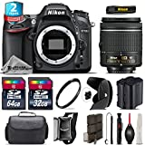 Holiday Saving Bundle for D7100 DSLR Camera + AF-P 18-55mm + 64GB Class 10 Memory Card + 2yr Extended Warranty + 32GB Class 10 Memory Card + Backup Battery + Case + Tulip - International Version