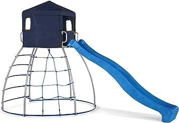 Plum- Cúpula para Escalar con Tobogán, Color Azul/Metal ...