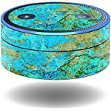 MightySkins Skin for Amazon Echo Dot - Teal Marble | Protective, Durable, and Unique Vinyl Decal wrap Cover | Easy to Apply, Remove, and Change Styles | Made in The USA