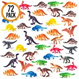 Prextex Box of Mini Dinosaurs (72 Count) Best for Cake Toppers Easter Eggs Filler
