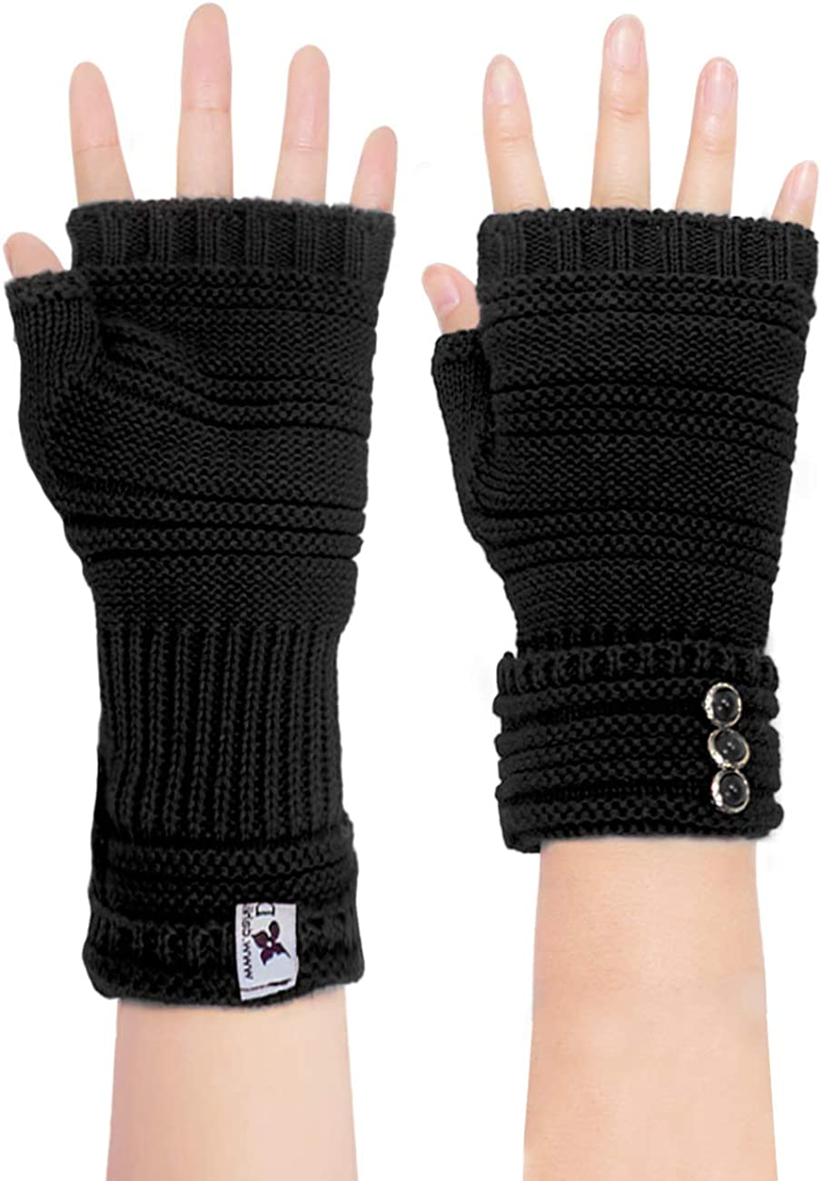 Dahlia Womens Cold Weather Arm Warmers & Fingerless Gloves - Various Styles