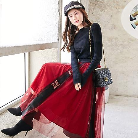 ZHILV Falda De Dos Piezas,Moda Otoño Invierno Mujeres Coreanas 2 ...
