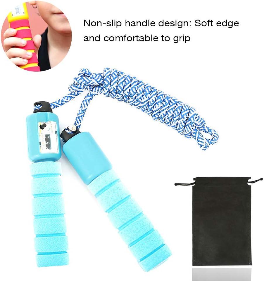 Double Unders Crossfit Boxe sfesnid Corde /à Sauter pour Enfant Compteur int/égr/é R/églable C/âble pour Fitness Gym