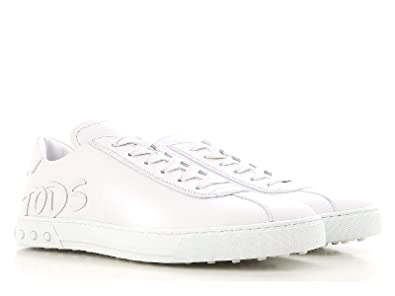 Tod s Sneaker in Pelle Con Logo XXM0XY0Y1707WRB003 Bianco Uomo  Amazon.fr   Chaussures et Sacs 6ef4611c477