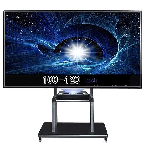 Móvil TV Stand Trolley Carro 100-120 Pulgadas Universal giratoria Montaje Ruedas monitoreo Stocks Mostrar
