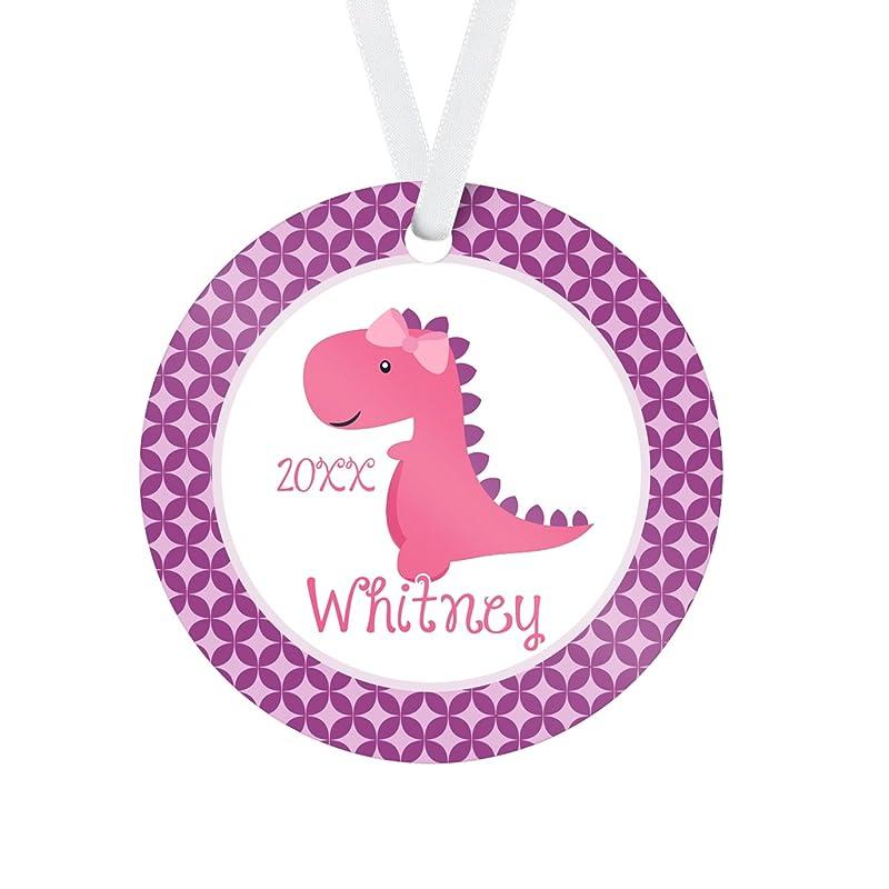 Amazon.com: Dinosaur Ornament - Purple Stars Pink TRex