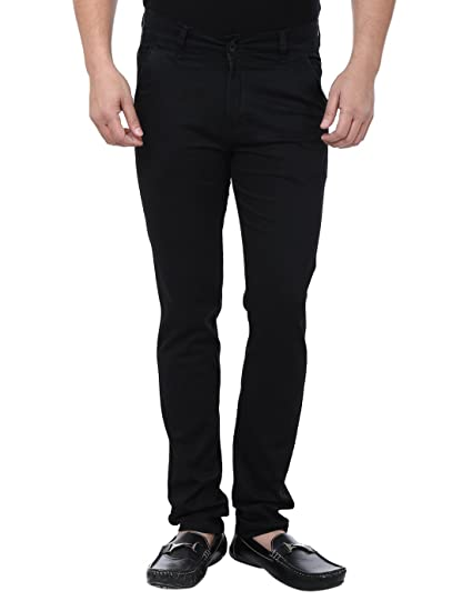 1a8d35ccac0 Magic Attitude Men s Semi Formal Trouser Chino Black  Amazon.in ...