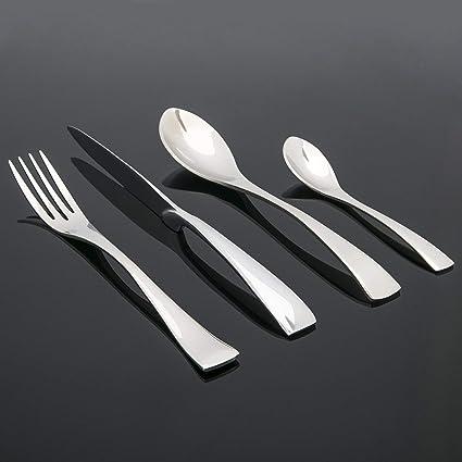 Jenssen 16 piezas o 24 piezas Acero Inoxidable (18/10) Diseño Moderno Juego