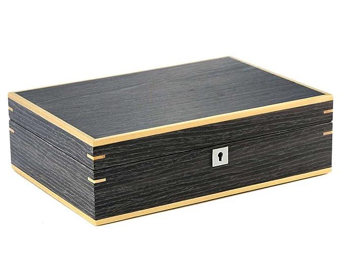 Rothenschild - Caja porta relojes, cofre para 10 relojes, de madera bicolor, acabado