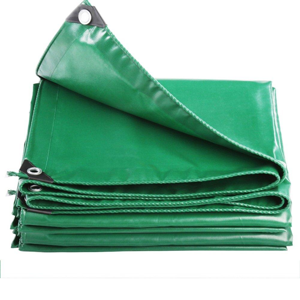 LIXIONG オーニング テント キャンバス 防水 屋外 日焼け止め トラック倉庫 断熱 、8sizes 、530G /㎡ 、0.4mm (色 : Green, サイズ さいず : 4.8 x 7.8 m) B07FZ4NR9H 4.8 x 7.8 m|Green Green 4.8 x 7.8 m