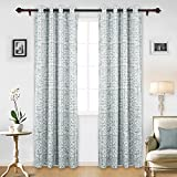 Cheap Deconovo Room Darkening Window Drapes Abstract Print Thermal Insulated Grommet Blackout Curtains for Bedroom 52W x 95L Grey 1 Pair