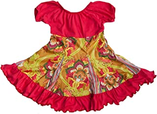 product image for Cheeky Banana Little Girls Gypsy Flared Peasant Dress Raspberry