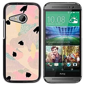 Be Good Phone Accessory // Dura Cáscara cubierta Protectora Caso Carcasa Funda de Protección para HTC ONE MINI 2 / M8 MINI // Abstract Floral Light Teal Pink Purple Petal
