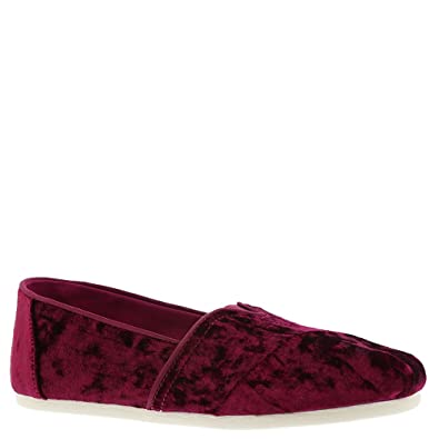 159ba49d1de Image Unavailable. Image not available for. Color  TOMS Black Cherry Velvet Women s  Classics Slip-On ...