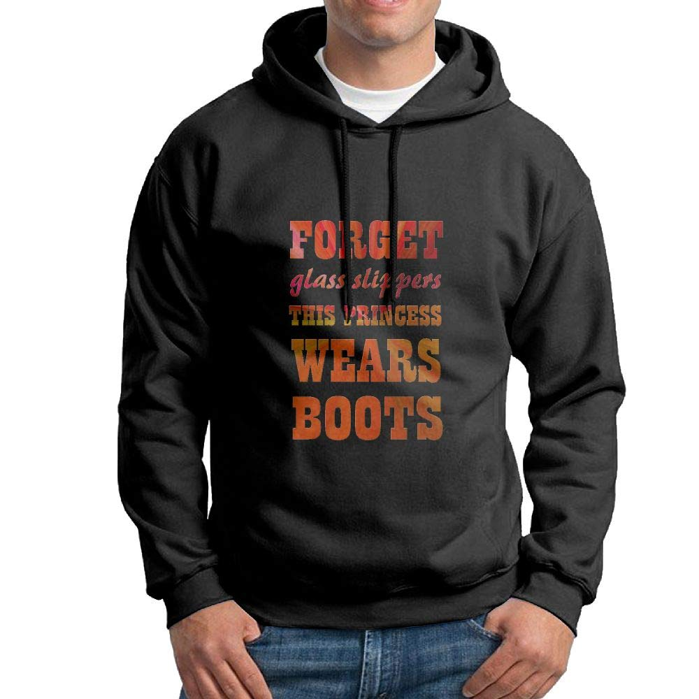 BjlkMLMLM Forget Glass Slippers Princess Wears Boots 100% Cotton Men Hoodies with No Pocket