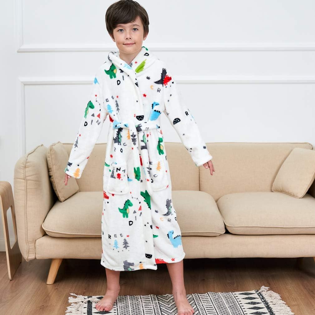 2 Toddler-16 Years Kids Robe Toddler Hooded Bathrobe Gifts for Boys Girls