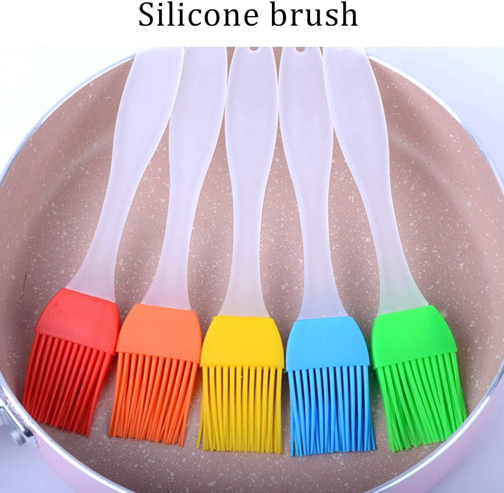 Ruixia 1pc Grill Brush Kitchen Silicone Basting Pastry Cooking Brushs /& BBQ Basting Brush Varying Bright Color Best Kitchen Gadget-Random Color