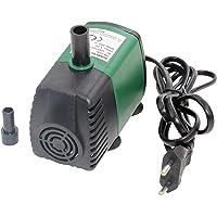 Decdeal 7W 600L/H Bomba de Agua Sumergible Mini Bomba de Fuente Bomba de Agua Ultra silenciosa para Acuario Tanque de Peces Estanque Jardines de Agua Sistemas hidropónicos con boquillas (EU Type 1)