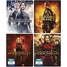 Hunger Games Steelbook Edition Complete Collection & The Hunger Games Blu Ray Catching Fire / Mockingjay / Mockingjay Part 2 Exclusive 4 movie set Bundle