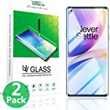 【Pack of 2】 Tamoria Oneplus 8 Pro Glass Screen Protector 0.2MM 3D Curved Tempered Glass Fingerprint Sensor Compatible Screen Cover UV Screen Protector for Oneplus 8 Pro 5G Accessories