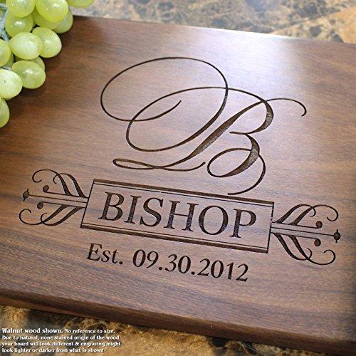 Board, Custom Keepsake, Engraved Serving Cheese Plate, Wedding, Anniversary, Engagement, Housewarming, Birthday, Corporate, Closing Gift #203 ()