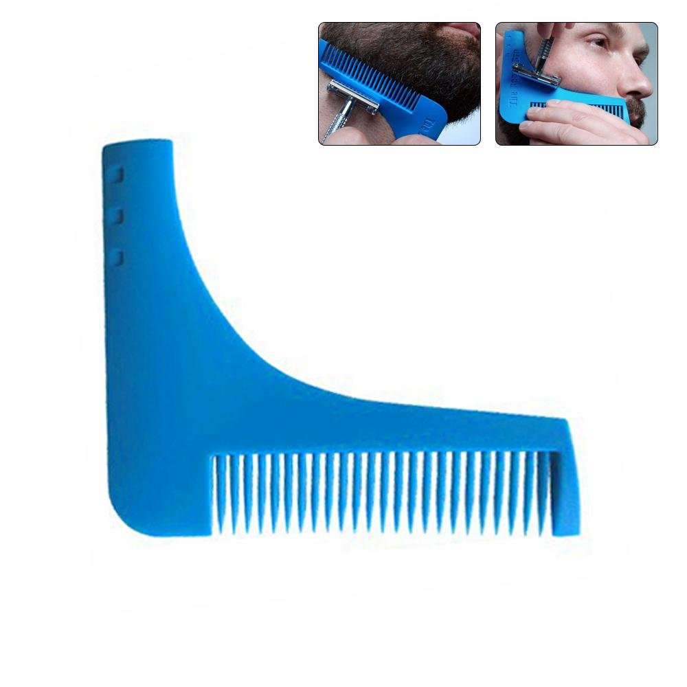 Mens Beard Comb,AOLVO Beard Brush and Comb a Perfect Template for Line Up, Edging, Goatee, Neck Line, Curve Cut or Step Cut or Straight Cut.