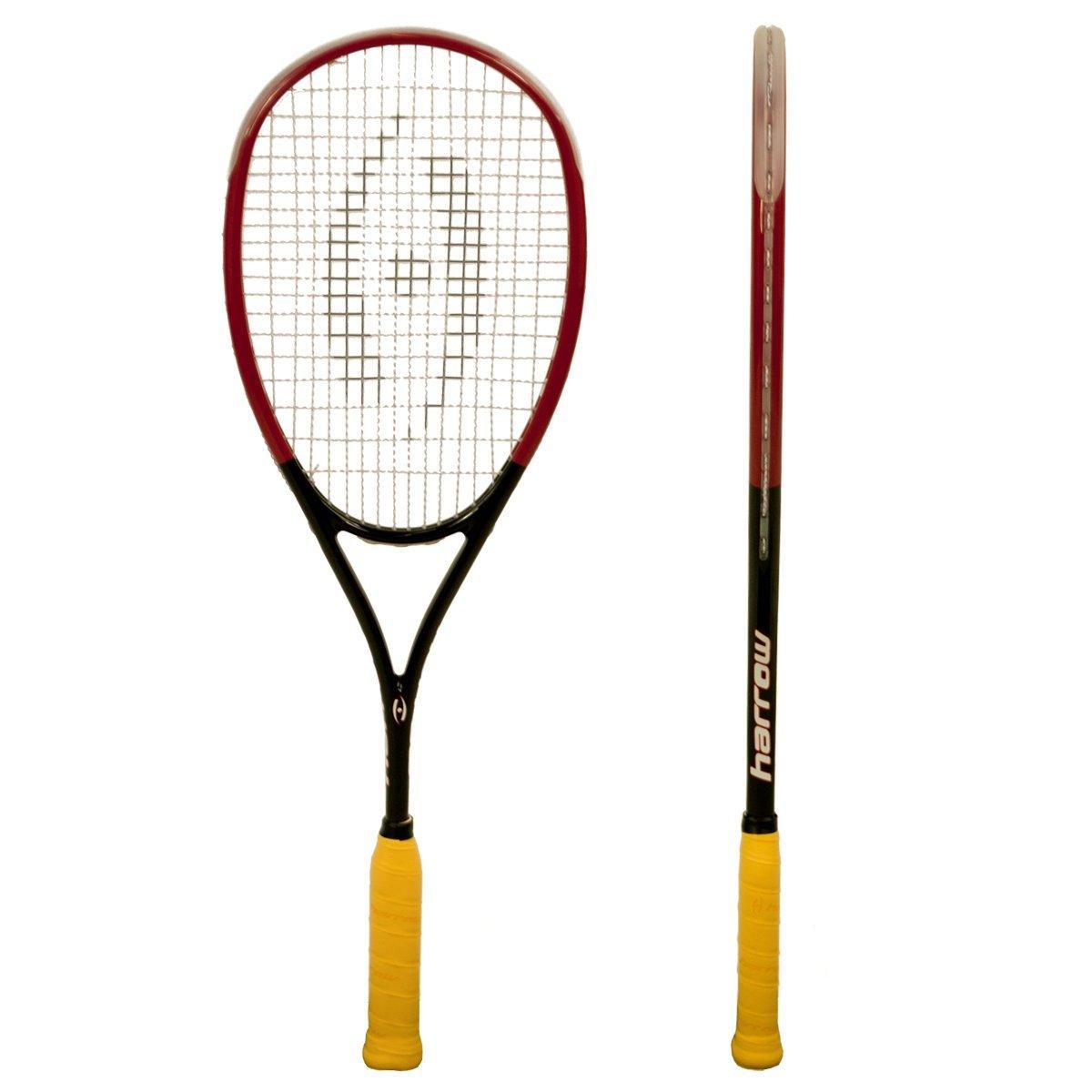 Harrow 65920502 2016 M-140 Squash Racquet, Black/Red/White by Harrow