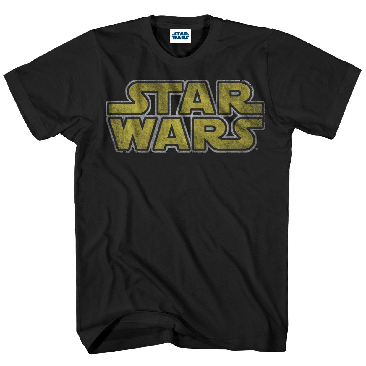 5329d417f5 Amazon.com: Star Wars Men's Classic Vintage Simple Logo T-Shirt: Clothing