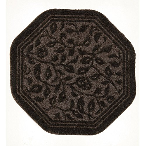 Mohawk Home Wellington Chocolate Octagon Bath Mat, 6'x6' by Mohawk Home