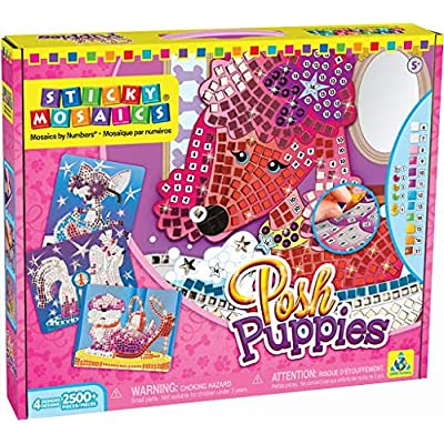 The Orb Factory Sticky Mosaics Posh Puppies: Toys & Games