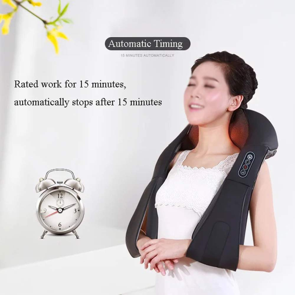 GAOQQ Shiatsu Back Neck and Shoulder Massager with Heat - Cervical Spine Kneading Multi-Function Massager for Office Home Car Use by GAOQQ (Image #6)