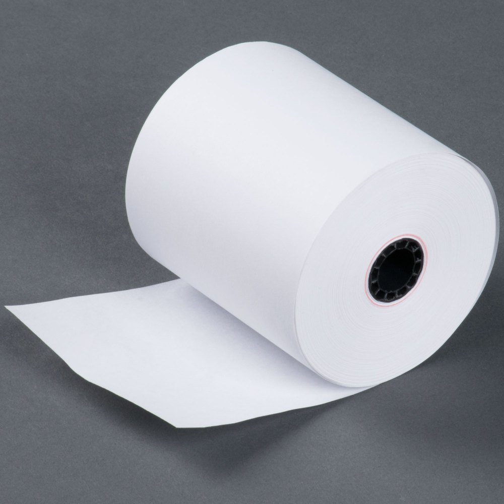 3'' 165' FT 1 Ply Bond Paper (50 Rolls) Kitchen Printer Paper Made in USA from BuyRegisterRolls