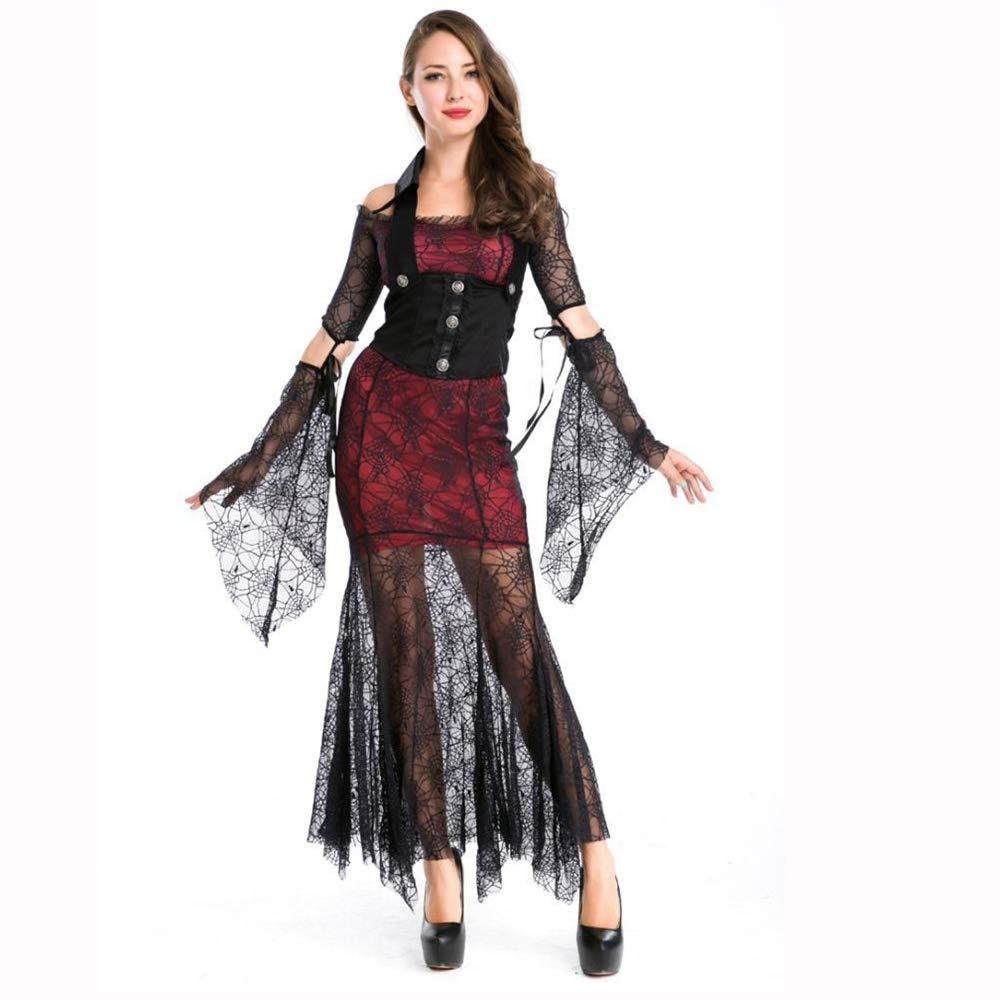 Yunfeng Hexenkostüm Damen Halloweenkostüm Hexe Königin Rolle Spielen Party Dress up Spiel Kostüm Cosplay