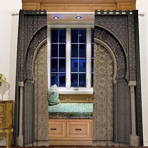 iPrint Finel Kids Curtains for Living Room Bedroom Window Cu