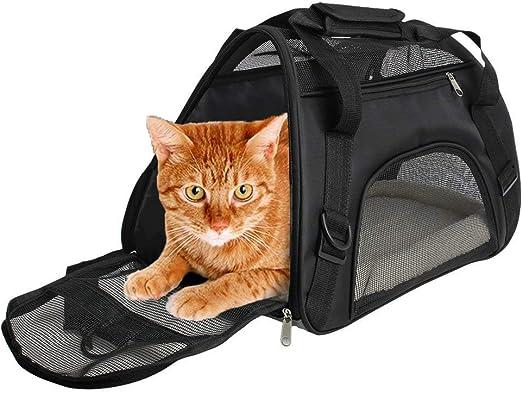 CUBY - Transportín para Mascotas con Laterales Suaves, cómodo para Viajar en avión para Animales pequeños, Gatos, Gatitos y Cachorros: Amazon.es: Productos para mascotas