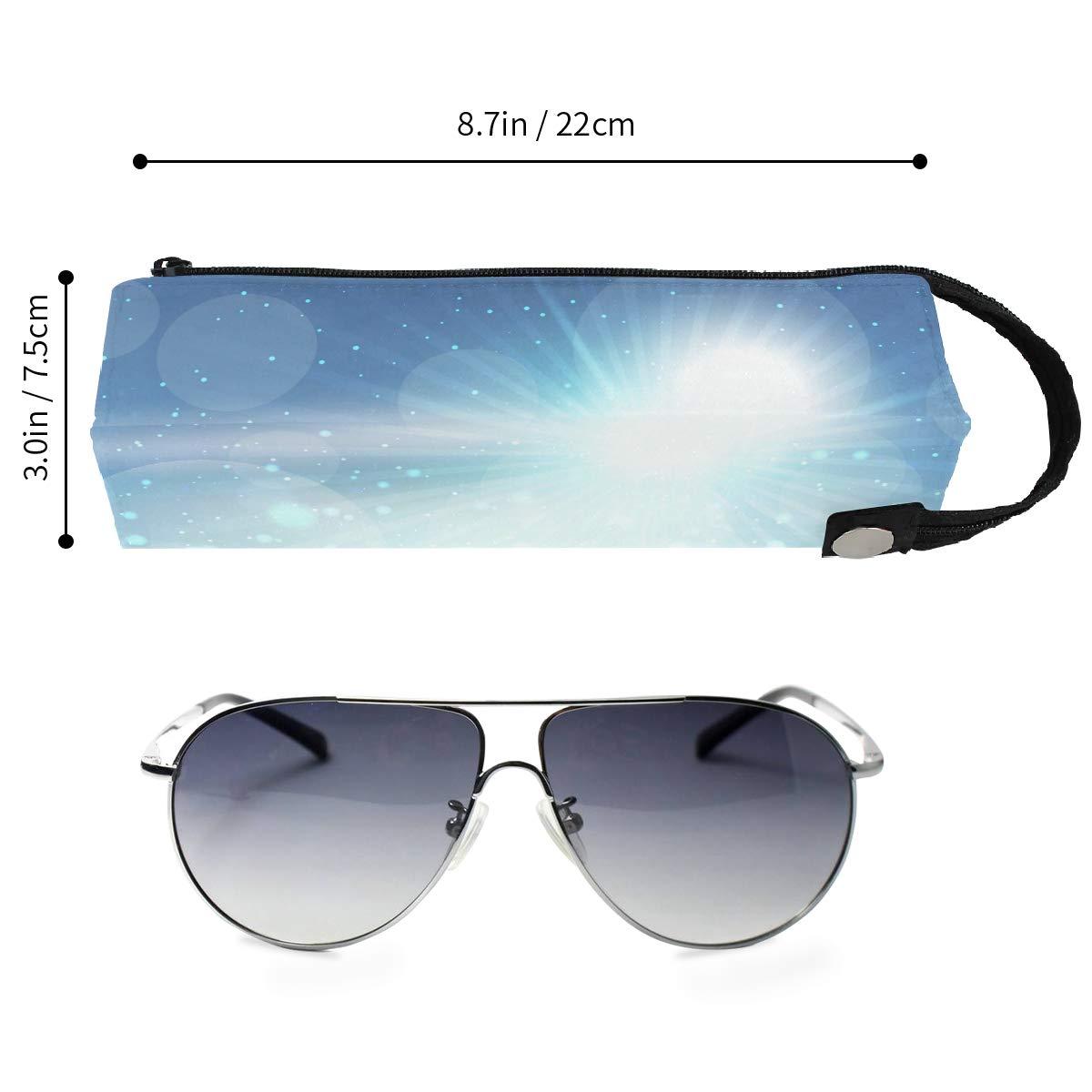 Football On Grass Soccer Glasses Case Women Men Eyeglasses Bag Pencil Case Pouch