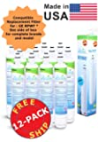 (12-Pack) - GE RPWF Compatible Refrigerator Water and Ice Filter by Zuma Filters