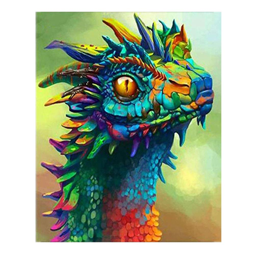 Kimily DIY Paint by Numbers for Adults Kids Dragon Paint by Numbers DIY Painting Acrylic Paint by Numbers Painting Kit Home Wall Living Room Bedroom Decoration Dragon