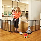 North States Superyard Arched Metal Baby/Pet Gate & Play Yard - Bronze | 4936