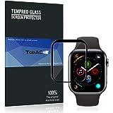 Apple watch series 4 44mm ガラスフィルム TopACE Apple watch 4 44mm フィルム 硬度9H 3D曲面デザイン 耐衝撃 撥油性 超耐久 耐指紋 飛散防止処理保護フィルム 【全画面貼る可能】液晶画面全面タイプ Apple watch series4 44mm 対応 (ブラック)