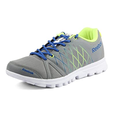 reebok mens running shoes. reebok men\u0027s pulse run grey,yellow, blue and white running shoes mens o