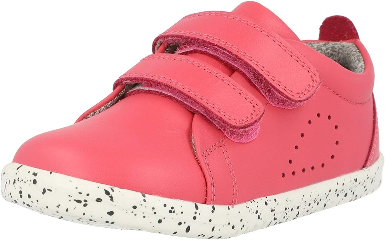 Strawberry Bobux i-Walk Grass Court Rosa Pelle Bambino Prime Camminatori Scarpe