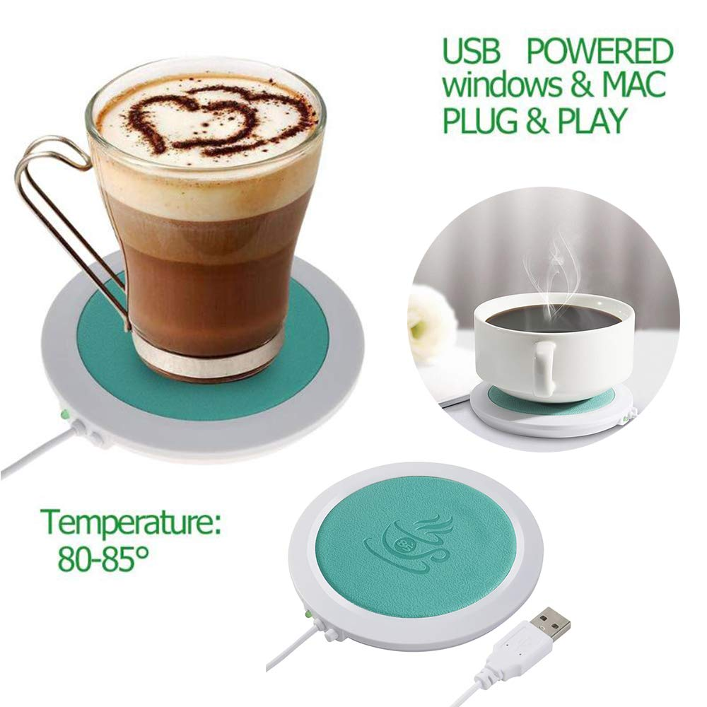 Coffee Mug Warmer ONEVER PU Coffee Warmer Plate with Automatic Shut Off Temperature Up to 185℉//85℃ for Desk /& Office Coffee Accessories