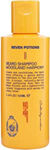 Seven Potions Beard Shampoo for Men — Gentle, Cleansing Beard Wash for a Clean Beard with No Beard Itch — Natural, Vegan, Cruelty Free — (Woodland Harmony, 3.4 Fl Oz)