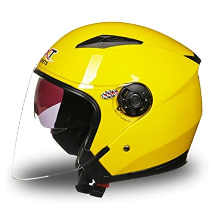 DLD Casco de Motocicleta Casco de Scooter Abierto Casco de Bicicleta eléctrico Seguro Ligero para Hombres
