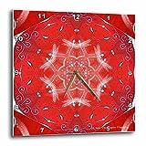 3dRose LLC Dragonfly Dance Wall Clock, 10 by 10-Inch