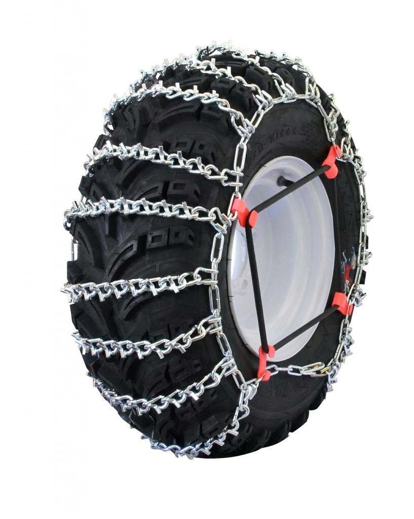 Grizzlar GTU-529 ATV 2 Link Ladder Alloy Tire Chains with Tensioners 24x8-11 24x8-12 25x8-12 by Grizzlar