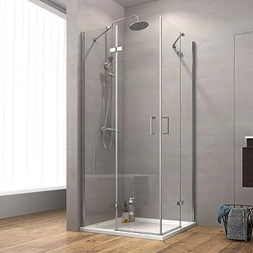 Cabina de ducha Safeni para esquina, puerta plegable, puerta de ...